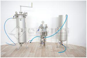 Laboratoryjny układ do filtracji; filtr koszowy; filtr HDB3